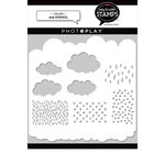 Photo Play Paper - Say It With Stamps Collection - 6 x 6 Stencils - Clouds