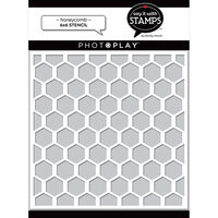 Photo Play Paper - Say It With Stamps Collection - 6 x 6 Stencils - Honeycomb