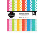 Photo Play Paper - Say It With Stamps Collection - 6 x 6 Paper Pad - Bright Dots and Stripes
