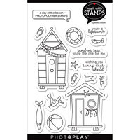 Photo Play Paper - Say It With Stamps Collection - Clear Photopolymer Stamps - A Day At The Beach