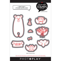 Photo Play Paper - Say It With Stamps Collection - Dies - Bear Hug
