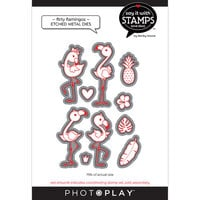 Photo Play Paper - Say It With Stamps Collection - Dies - Flirty Flamingos