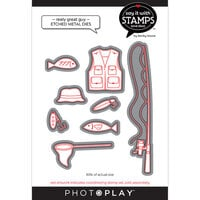 Photo Play Paper - Say It With Stamps Collection - Dies - Reely Great Guy