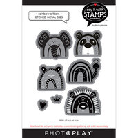 Photo Play Paper - Say It With Stamps Collection - Dies - Rainbow Critters