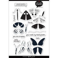 Photo Play Paper - Say It With Stamps Collection - Clear Photopolymer Stamps - Beautiful Butterflies