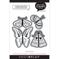 Photo Play Paper - Say It With Stamps Collection - Dies - Beautiful Butterflies