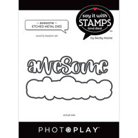 Photo Play Paper - Say It With Stamps Collection - Dies - Awesome