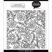Photo Play Paper - Say It With Stamps Collection - Clear Photopolymer Stamps - Summer Floral Background