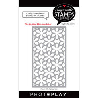Photo Play Paper - Say It With Stamps Collection - Dies - Slimline - Daisy Coverplate