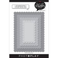 Photo Play Paper - Say It With Stamps Collection - Dies - A2 - Nested Stitched Scallops