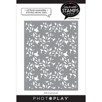 Photo Play Paper - Say It With Stamps Collection - Dies - A2 - Floral Coverplate