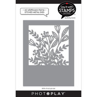 Photo Play Paper - Say It With Stamps Collection - Dies - A2 - Wildflowers Coverplate