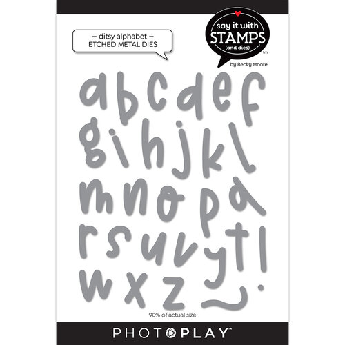 Photo Play Paper - Say It With Stamps Collection - Dies - Ditsy Alpha