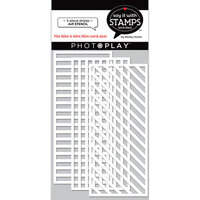 Photo Play Paper - Say It With Stamps Collection - 4 x 9 Stencils - Slimline - Stripes