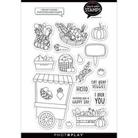Photo Play Paper - Say It With Stamps Collection - Clear Photopolymer Stamps - Farmer's Market