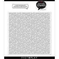 Photo Play Paper - Say It With Stamps Collection - Clear Photopolymer Stamps - Grateful Thankful Blessed Background