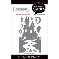 Photo Play Paper - Say It With Stamps Collection - Dies - Mini Slimline - Haunted House Coverplate