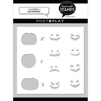 Photo Play Paper - Say It With Stamps Collection - 6 x 6 Stencils - Pumpkins