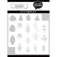 Photo Play Paper - Say It With Stamps Collection - 6 x 6 Stencils - Autumn Leaves