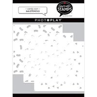 Photo Play Paper - Say It With Stamps Collection - 6 x 6 Stencils - Candy Corn