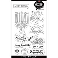 Photo Play Paper - Say It With Stamps Collection - Clear Photopolymer Stamps - Happy Hanukkah