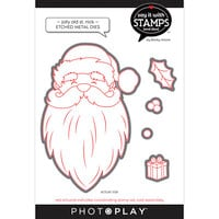 Photo Play Paper - Say It With Stamps Collection - Dies - Jolly Old St. Nick