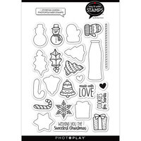 Photo Play Paper - Say It With Stamps Collection - Clear Photopolymer Stamps - Christmas Cookies