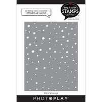 Photo Play Paper - Say It With Stamps Collection - Dies - A2 - Falling Snow Coverplate