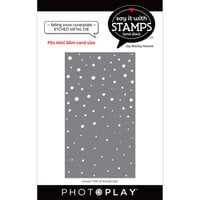 Photo Play Paper - Say It With Stamps Collection - Dies - Falling Snow Coverplate
