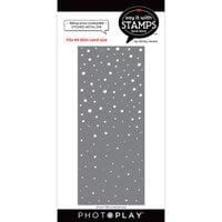 Photo Play Paper - Say It With Stamps Collection - Dies - Slimline - Falling Snow Coverplate