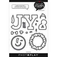 Photo Play Paper - Say It With Stamps Collection - Dies - Joyful Snowman