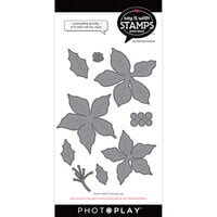 Photo Play Paper - Say It With Stamps Collection - Dies - Poinsettia and Holly