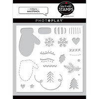 Photo Play Paper - Say It With Stamps Collection - 6 x 6 Stencils - Mitten