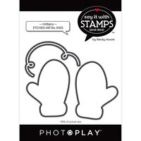 Photo Play Paper - Say It With Stamps Collection - Dies - Mitten