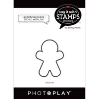 Photo Play Paper - Say It With Stamps Collection - Dies - Gingerbread Cookies