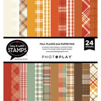 Photo Play Paper - Say It With Stamps Collection - 6 x 6 Paper Pad - Fall Plaid
