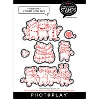 Photo Play Paper - Say It With Stamps Collection - Dies - Kitty Love