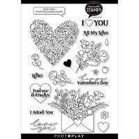 Photo Play Paper - Say It With Stamps Collection - Clear Photopolymer Stamps - Floral Heart