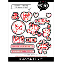 Photo Play Paper - Say It With Stamps Collection - Dies - Valentine Sentiments