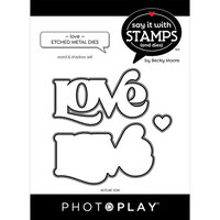 Photo Play Paper - Say It With Stamps Collection - Dies - LOVE word