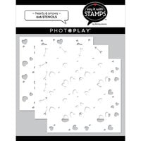 Photo Play Paper - Say It With Stamps Collection - Stencils - Hearts and Arrows