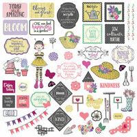 Photo Play Paper - Seeds of Kindness Collection - 12 x 12 Cardstock Stickers - Elements