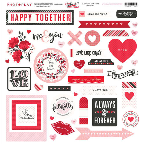 Photo Play Paper - So Loved Collection - 12 x 12 Cardstock Stickers - Elements