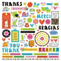 Photo Play Paper - Snail Mail Collection - 12 x 12 Cardstock Stickers - Elements