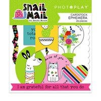 Photo Play Paper - Snail Mail Collection - Die Cut Cardstock Pieces - Ephemera