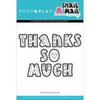 Photo Play Paper - Snail Mail Collection - Etched Die Set - Thanks So Much Letters