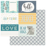 Photo Play Paper - Snuggle Up Collection - Boy - 12 x 12 Double Sided Paper - Hello Baby Boy
