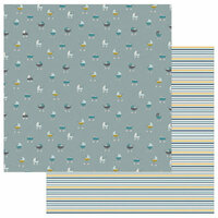 Photo Play Paper - Snuggle Up Collection - Boy - 12 x 12 Double Sided Paper - Around Town