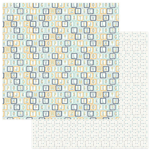 Photo Play Paper - Snuggle Up Collection - Boy - 12 x 12 Double Sided Paper - All Stacked Up