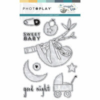 Photo Play Paper - Snuggle Up Collection - Boy - Clear Photopolymer Stamps